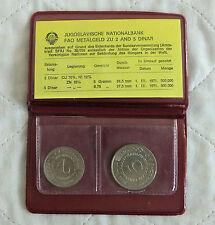 YUGOSLAVIA 1970 FAO 2 COIN UNCIRCULATED SET - brown wallet