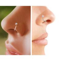 1PC Nose Ring Crystal Rhinestone Bone Stud Body Piercing Jewelry Surgical Steel