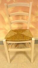 Chaise pour salle à manger cuisine bar bois massif beige moderne siège paille