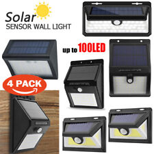 100LED Waterproof Solar Wall Light PIR Motion Sensor Garden Pathway Lamp Light