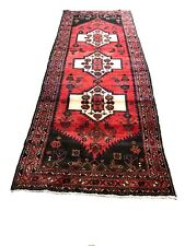 """Old Hand Knotted wool rug saruq mo532 3'6""""x9'5&# 034;"""