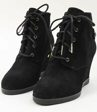 1bcc69e565db Michael Kors Womens Ankle Wedge Booties Black Size 7 New W Defect