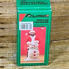 Flambro Emmett Kelly 1991 Porcelain Christmas Ornament Signature Collection 9661