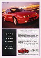 1995 Pontiac Grand Prix GTP -  Original Advertisement Print Art Car Ad J556
