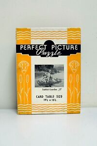 "VINTAGE Perfect Picture Puzzle ""Faithful Guardian"" 19 1/2"" x 15 1/2"" Over 375 Pc"