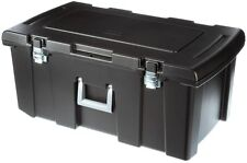 Large Rolling Storage Box Plastic Bin Garage Tools Gear Lockable Heavy Duty Case