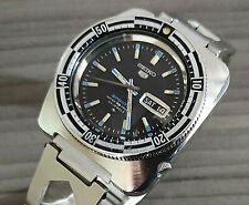 1960's VINTAGE SEIKO RALLY DIVER SPORTS  23J S/S AUTOMATIC MENS WATCH 5126-8130