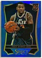 2013-14 Select Trey Burke RC #'d 29/49 Blue Prizm Jazz 76ers Michigan Wolverines