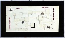 Plaine Niveau 1 - acrylique, encre, et relief sur carton et bois - Abstrait