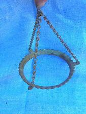 Vintage Hanging Oil Kerosene Lamp Holder Brass with Chains