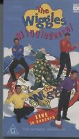 PAL VHS VIDEO TAPE : THE WIGGLES WIGGLEDANCE, LIVE IN CONCERT