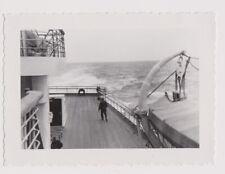 original Foto Dampfer BREMEN Lloyd Deck USA FAHRT vintage photo  1935 ship boat
