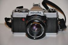 Minolta XG-1 35mm Film Camera with MD Rokkor-X 50mm 1:1.7 Lens Very Nice