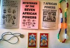 7 AFRICAN POWERS STARTER KIT lot of books, necklace, pendant, MORE Seven Orishas