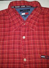 Tommy jeans vintage button front dress shirt for men xl original 1990s