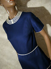 CHIC VINTAGE ROBE 1960 VTG DRESS 60s MOD TWIGGY KLEID 60er ABITO RETRO (36/38)