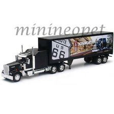 NEW RAY SS-13443 LONG HAUL TRUCKER KENWORTH W900 ROUTE 66 DESIGN 1/32 BLACK