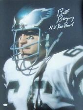 "Bill Bergey  Signed 16x20 - Philadelphia Eagles - ""4 Time Pro Bowl"" Inscription"