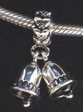 Unbranded 925 Silver Threaded Dangle Church Wedding Christmas Bells Europe Charm