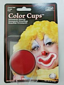 Mehron Red Makeup Greasepaint Color Cups Red Mehron .5 oz Ships Free USA