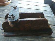 Vintage Hand Made Fly Line Winder Wooden Fishing Gadget Tool