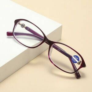 1 Pair Oval Frame Reading Glasses Lightweight Classic Readers for Women Ladies