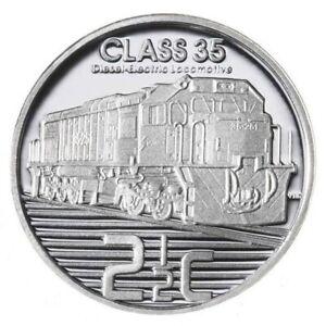 AFRIQUE DU SUD - 2 Cents 1/2 argent BE / Proof 2013 - Locomotive Classe 35