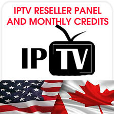 BECOME AN IPTV RESELLER - PANEL W 25 CREDITS - NOW CHOICE FROM 5 SERVERS