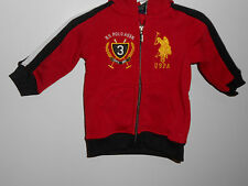 U.S. Polo Assn. Baby Boys' Classic Zip Up Red Hoodie & Track Pant Set 12 mo NWT
