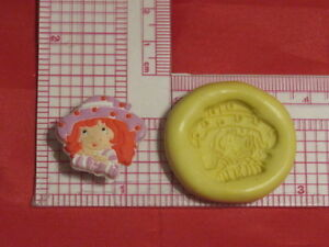 Strawberry Shortcake Girl Silicone Mold #93 For Chocolate Candy Resin Fimo Craft