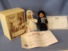 Raikes Bears Bob & Carol Wooden Limited Edition Numbered Original Wedding Bears