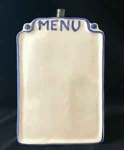 """Blue and White Ceramic Dry Erase Menu Board 5.35"""""""