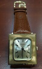 RARE Mens 1960s  Longines 14K SOLID GOLD Vintage FANCY case  17j Swiss Watch