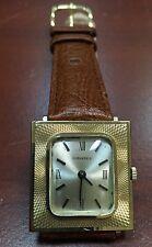 RARE Mens 1960s  Longines 14K SOLID GOLD Vintage FANCY case  17j Swiss Watch