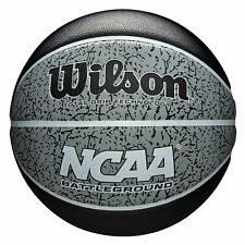 Wilson Basketball NCAA Grey Black Battleground Outdoor Ball Size 7