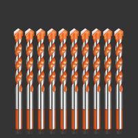 10x Triangle drill bit Multifunctional twist drill head triangle drill Hand Tool