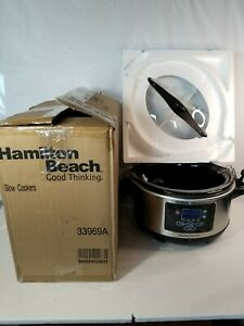Hamilton Beach 6-Quart, Set and Forget, 33969A 1800W, Slow Cooker