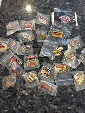 Lot Of 25 Random NASCAR Race pins from 80's, 90's and 2000's. Free Shipping.