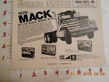 1971 Mack Truck 1/25 scale model kit vintage AD DM800 Gravel Trailer Tractor