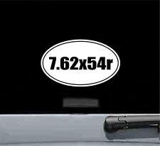 7.62x54r oval vinyl decal sticker gun rifle bullet ammo trigger scope mount