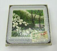 New English Life Coasters Made in England Flowering Dogwood Sealed Vintage