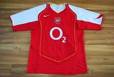 SIZE L ARSENAL 2004-2005 HOME ORIGINAL FOOTBALL SHIRT JERSEY SOCCER NIKE O2 RARE