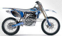 MX Graphics Custom Sticker Kit for Yamaha YZ250F YZ450F 2006 2007 2008 2009 Blue