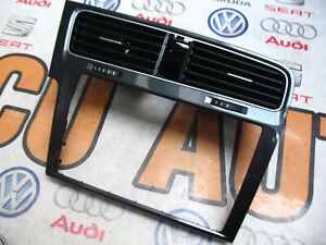 VW GOLF VII 7 SATNAV SURROUND TRIM DASHBOARD PANEL GREY 5G1819743F LHD