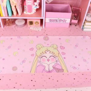Anime Sailor Moon Tsukino Usagi Pink Play Pad Table Mat Picnic Pad Mousepad Gift