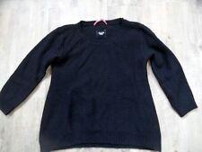 DEAR CASHMERE schöner Pullover Lambswolle schwarz Gr. L TOP KoS817