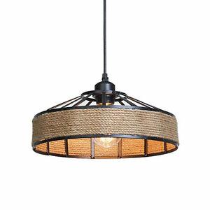 Industrielampe Vintage Metall Hängeleuchte Retro Seil Pendelleuchte Deckenlampen