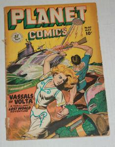 Planet Comics 60 1949 Joe Doolin Cover Low Grade Complete Cover Detached 1.8 GD