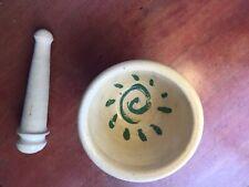 Mortar and Pestle, Signed Kathy Grace Ceramics Studio Pottery  North Carolina