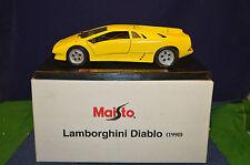 Lovely Maisto Yellow Lamborghini Diablo 1990 1:18 Scale With Free Box RD6074